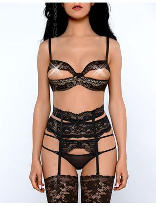 Axami Sexy Poison black bra