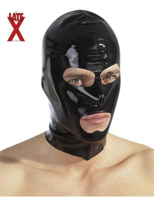 Late X lateksa maska ar izgriezumiem
