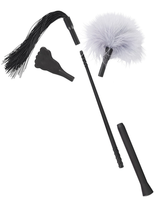 Bad Kitty mini flogger set with three attachments