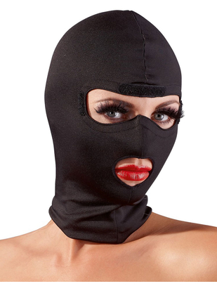 Fetish Collection black hoodie mask with blindfold