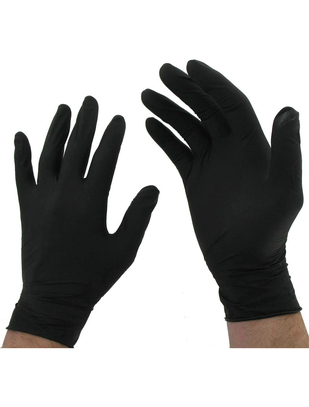 UNIGLOVES черные одноразовые перчатки из латекса (100 шт.)