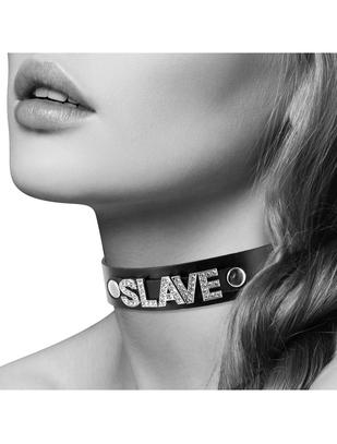 Coquette black leatherette collar Sexy / Slave
