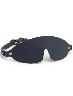 NS Novelties navy blue faux leather blindfold