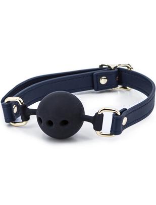 NS Novelties navy blue silicone ball gag