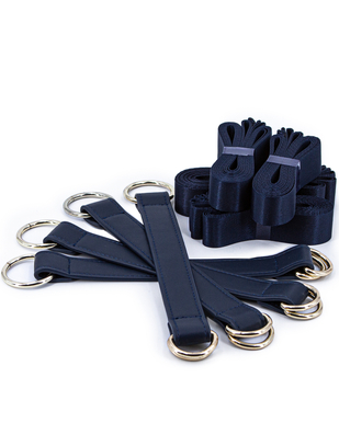 NS Novelties navy blue tie down straps