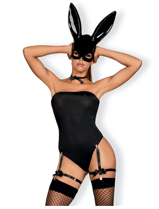 Obsessive black bunny erotic set with mask