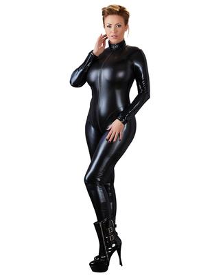 Cottelli Collection melns metāliska spīduma kaķenes tērps