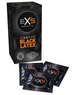 EXS Comfy Fit Black (12 pcs)