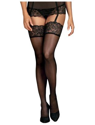 Obsessive Contica black suspender stockings