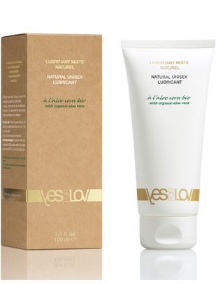 YESforLOV Natural Unisex Lubricant with Organic Aloe Vera (100 ml)