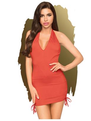 Penthouse Earth-Shaker red mini dress