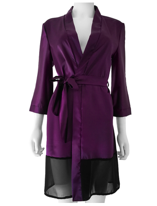 SexyStyle purple robe with black hemline