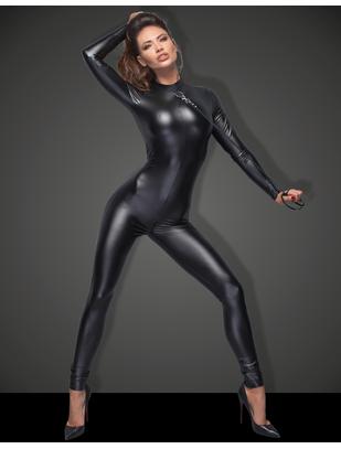 Noir Handmade black matte look jumpsuit