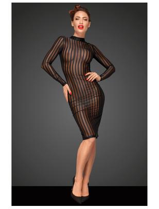 Noir Handmade черное сетчатое платье в полоску