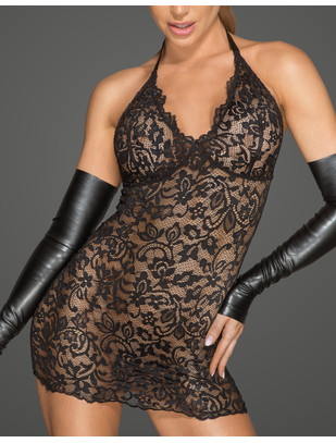 Noir Handmade черное кружевное платье-мини