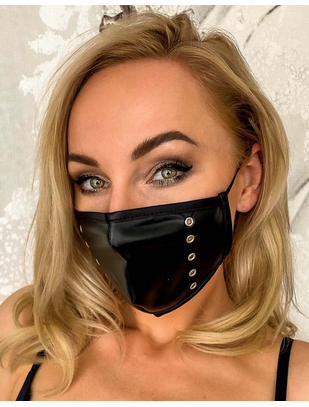 Noir Handmade black wetlook face mask