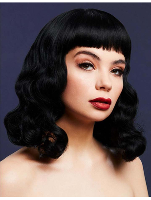 Fever Bettie Black Wig with Short Fringe
