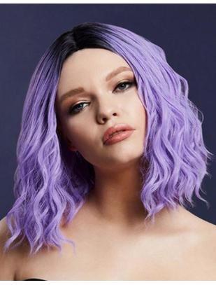Fever Cara фиолетовый/чёрный короткий волнистый парик