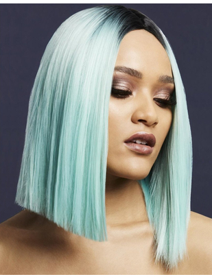 Fever Kylie light green/black ombre short straight wig