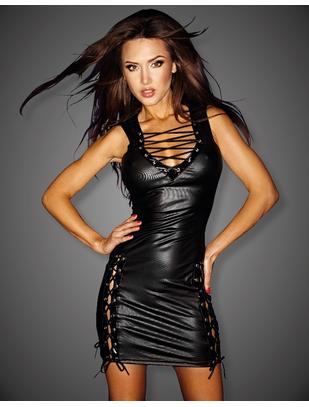 Noir Handmade melna, metāliska spīduma kleita ar atvērumiem