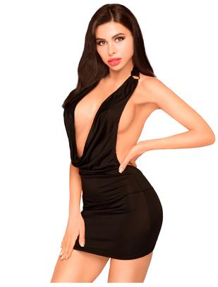 Penthouse Heart Rob black mini dress
