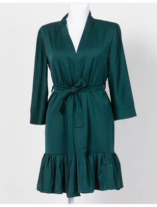 SexyStyle Emerald Green Robe with Ruffles