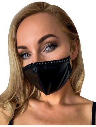 Noir Handmade black wetlook face mask