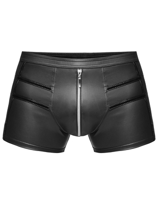 Noir Handmade black boxer briefs with vinyl pattern