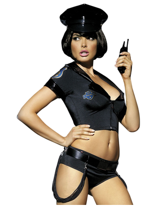 Obsessive Black police set costume