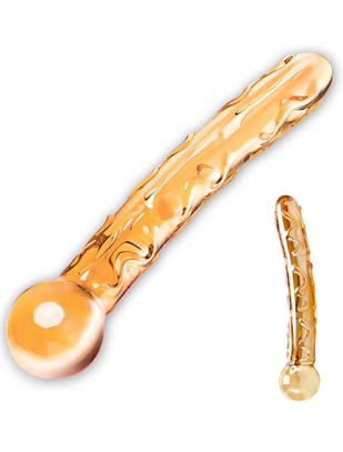 gläs Orange Tickler Glass Dildo