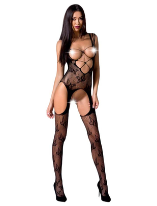 Passion Crotchless Open Bust Bodystocking