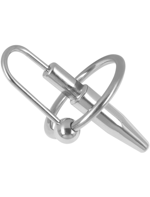 Shots Steel penis plug with glans ring