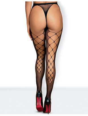 Obsessive black net tights