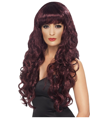 Fever Siren burgundy wig