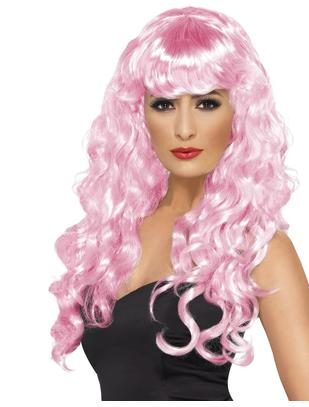 Fever Siren pink wig