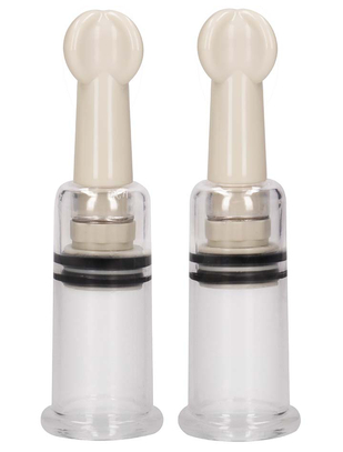 Shots Toys Pumped Nipple Suction Set (2 pcs)