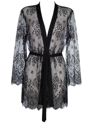 Axami Sexy Sky is The Limit black sheer peignoir