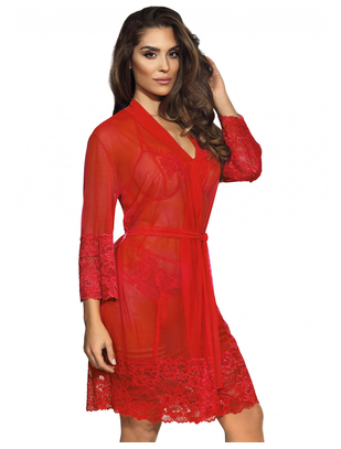 Axami Sexy Hot Sevilla red sheer peignoir
