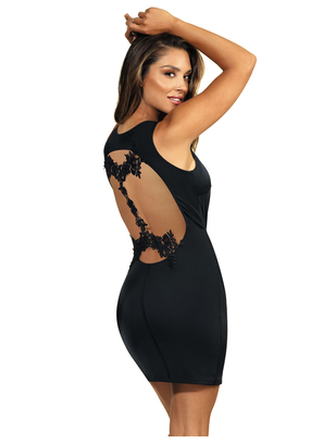 Axami Queen of the Night black mini dress with lace