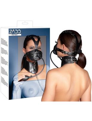 Zado sejas maska ar atvērumiem, piepūšamu mutes aizbāzni un kakla siksnu