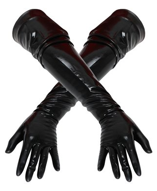 Late X black latex gloves
