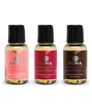 Dona kissable massage oil gift set (3 x 30 ml)